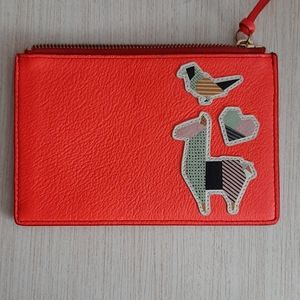 Fossil small leather clutch